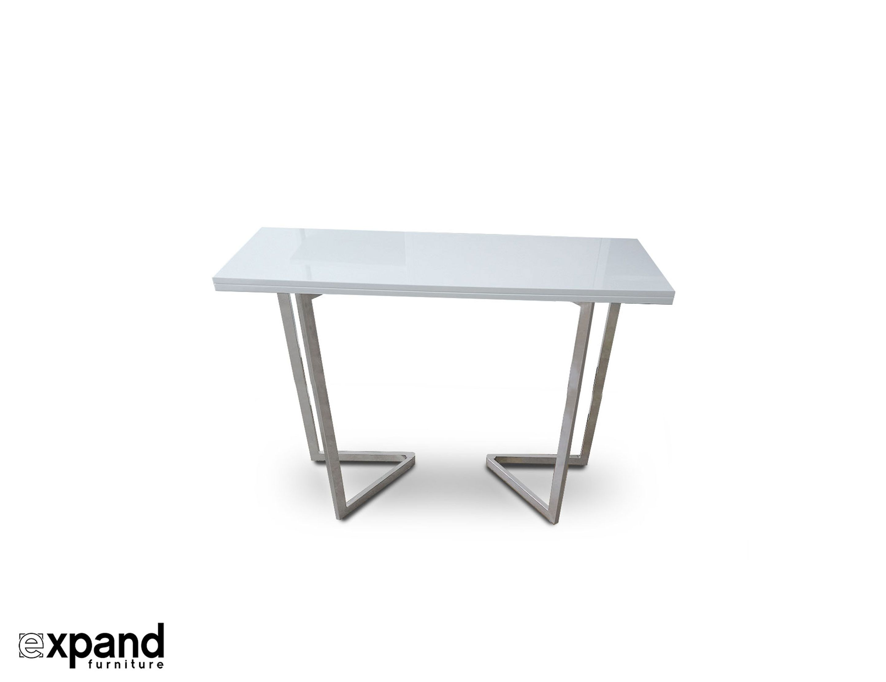 Flip Counter Height Transforming Console Counter Height Table