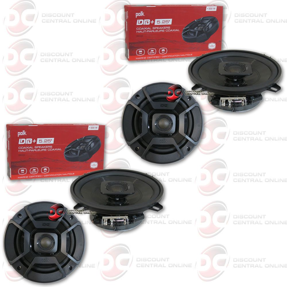 Car speakers and speaker systems 4 x polk audio 5 25 inch 2 way