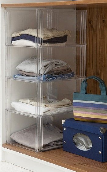 Sweater Storage Open Cubbies 4 Pack With Top Sweater Storage Stackable Storage Bins Organizing Small Home