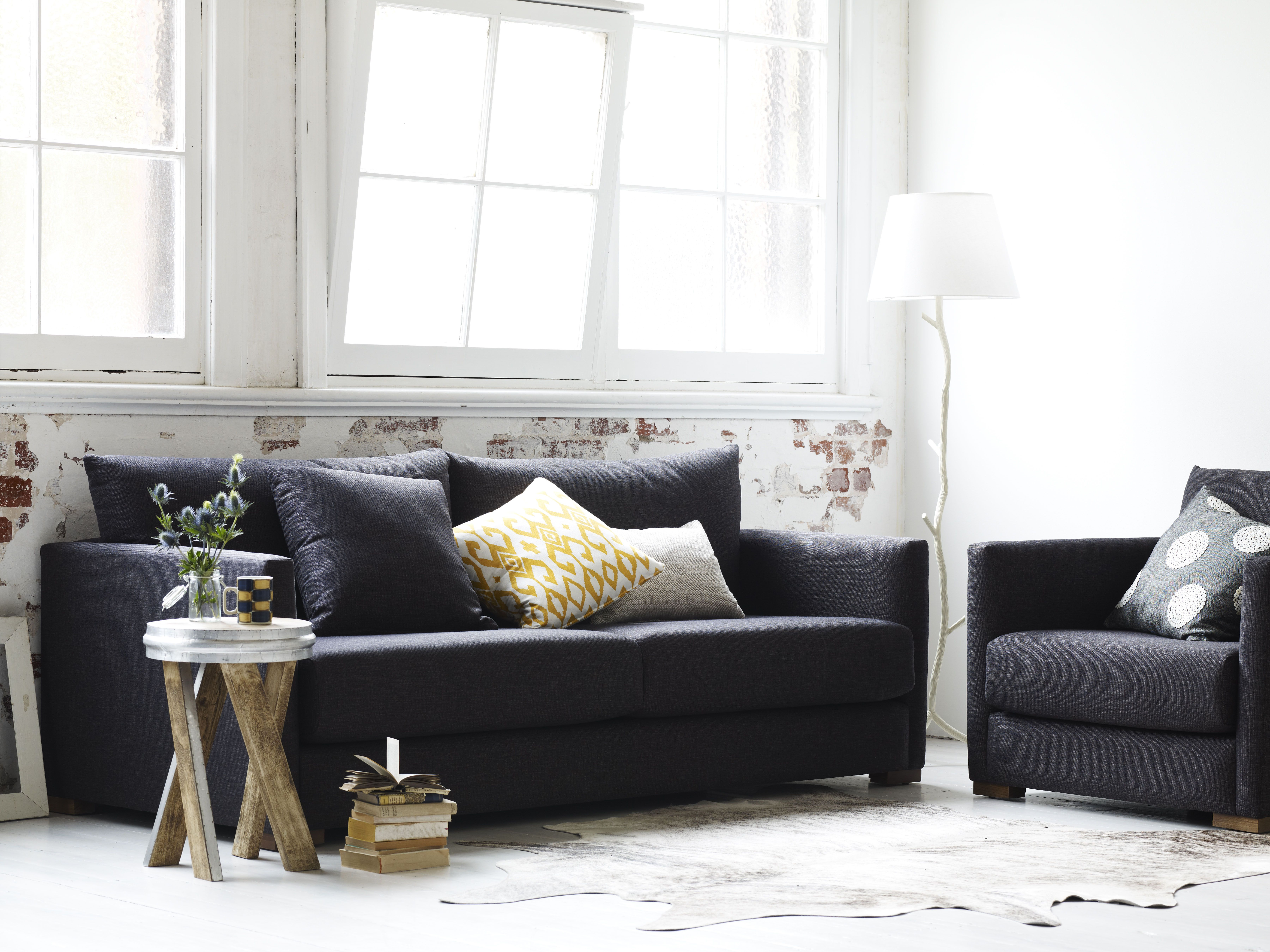 Molmic Billy Sofa and Chair lifestyle naturalsetting