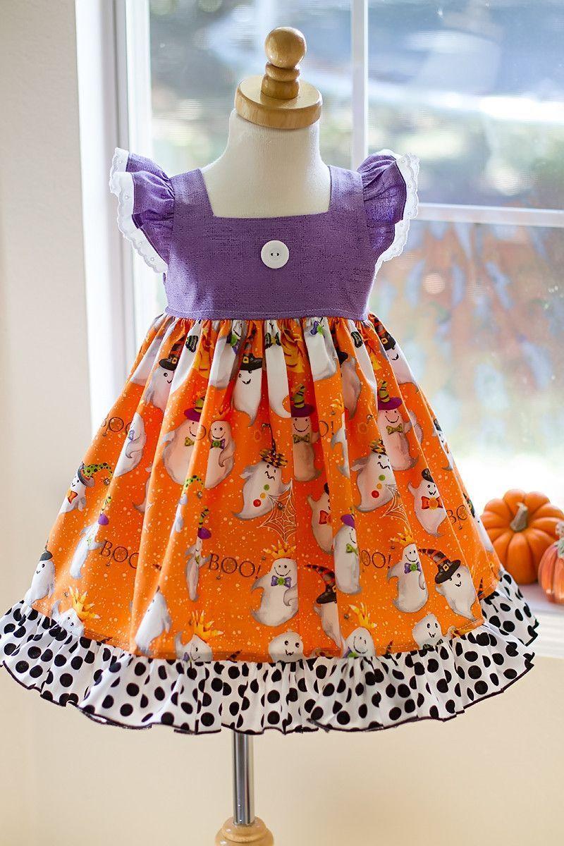 Halloween boo bella girls dress sewing kids and teens pinterest