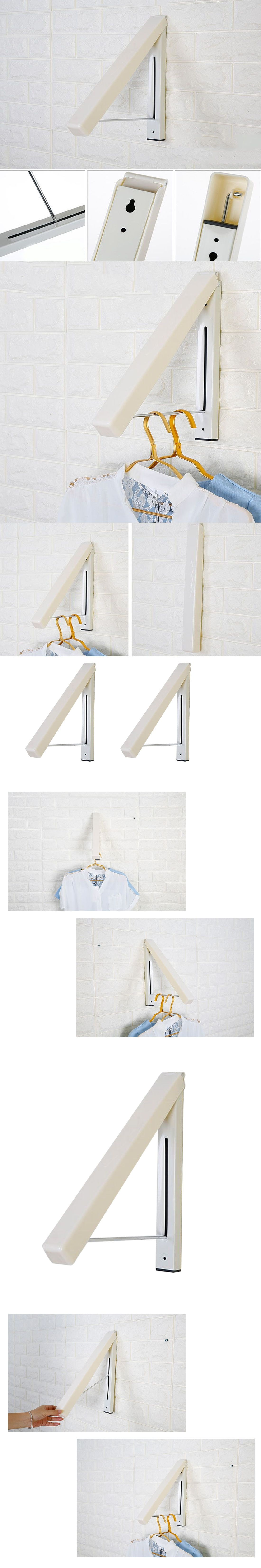 Stainless Steel Wall Hanger Retractable Indoor Clothes Hanger Magic Foldable  Drying Rack Waterproof Clothes Towel Rack