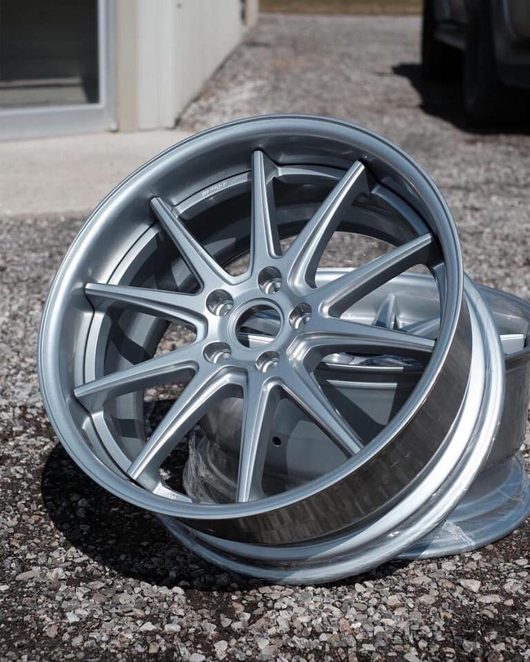 Work Wheels Refinished In Hyper Silver In 2020 Wheel Rims Wheel Car Wheel