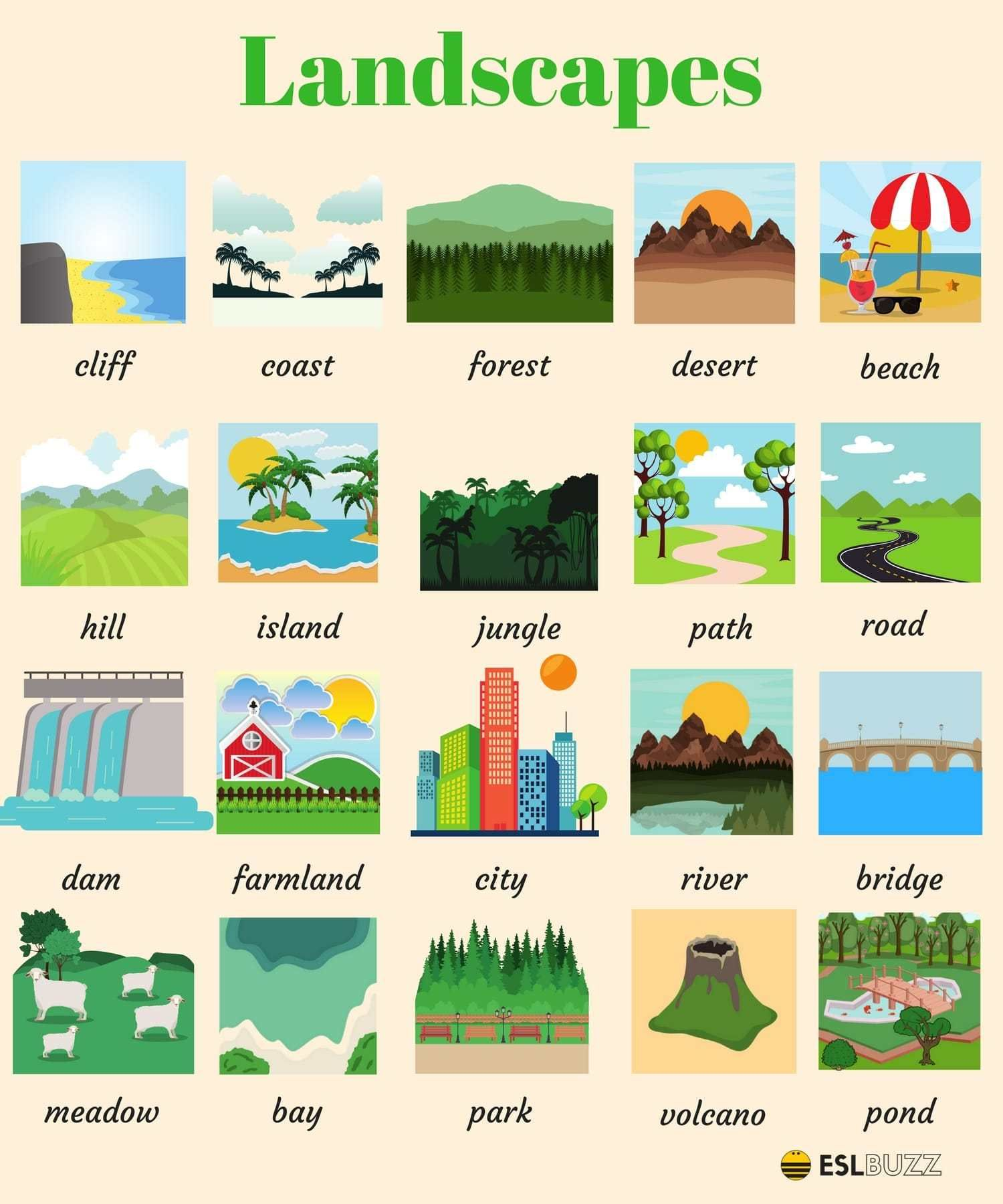 Landscapes Vocabulary