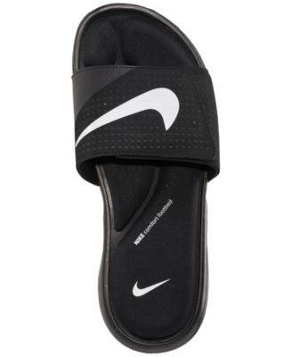 uk availability 7eeea 6071c Nike Men s Ultra Comfort Slide Sandals from Finish Line - Black 11