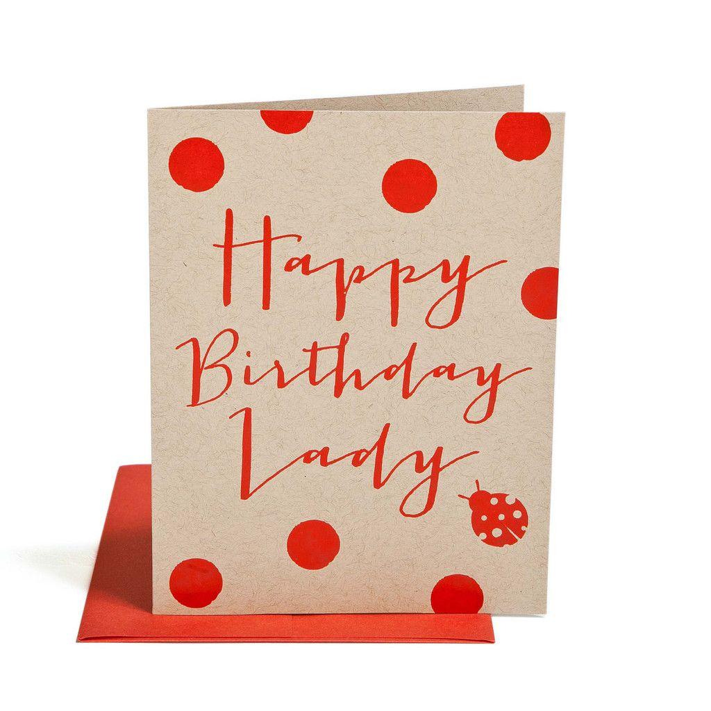 Happy birthday lady snail mail pinterest happy birthday red