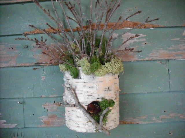 Wallpocket made of birch bark