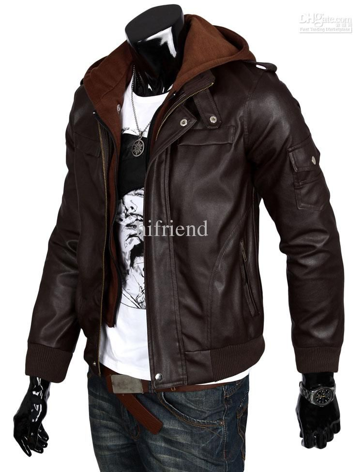 Winter Leather Coats For Men
