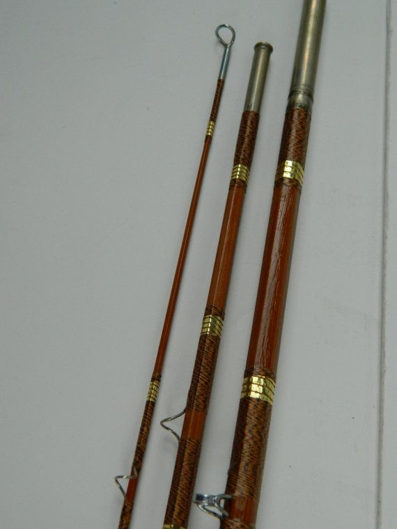 Antique patented 1938 goodwin granger bamboo by for Bamboo fishing rods