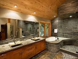 river stone small bathroom ideas - Google Search