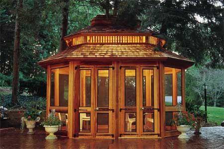 Build A Graceful Retreat In Your Yard Screened GazeboEnclosed