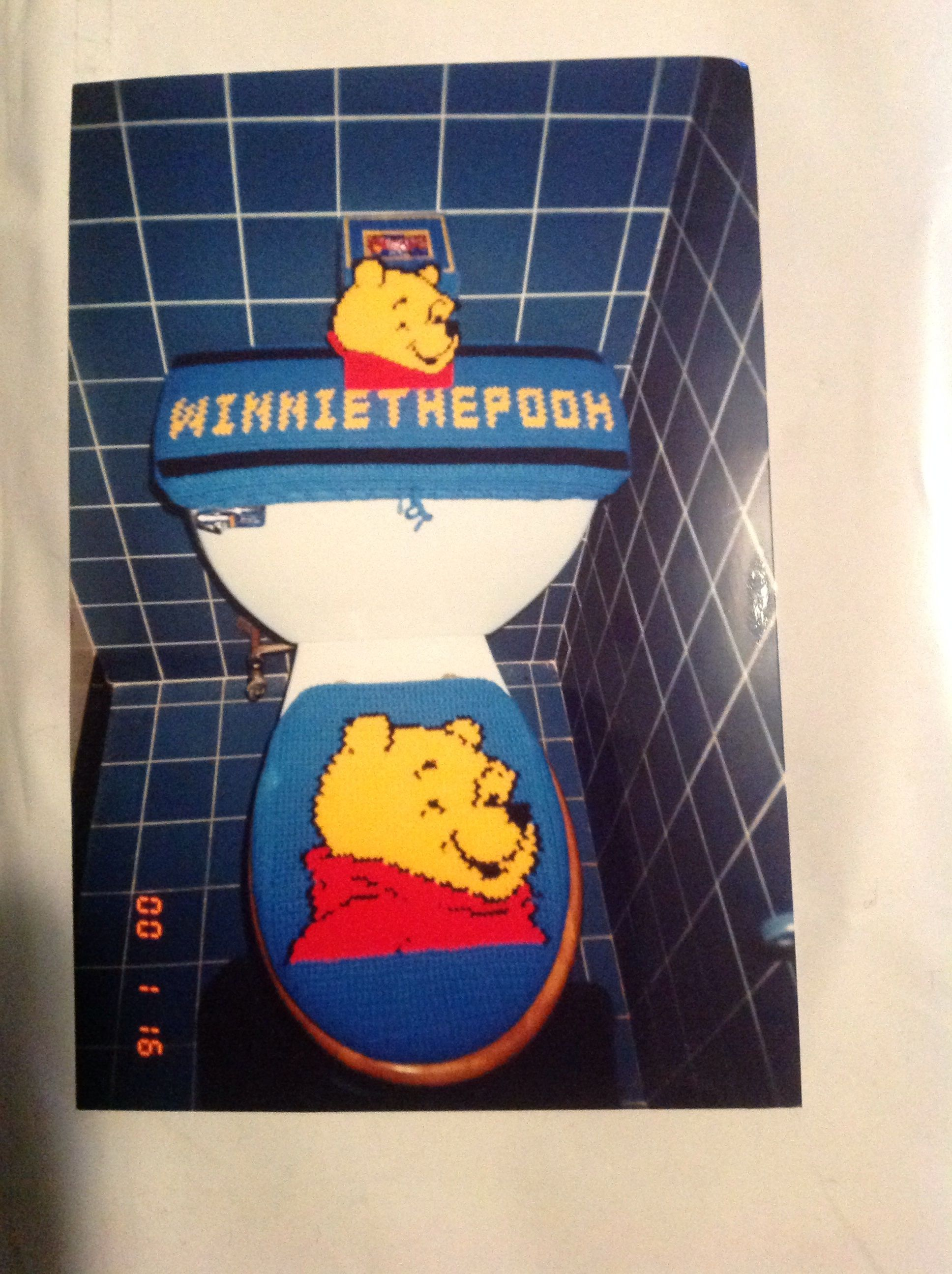 Pleasant Crochet Winnie The Pooh Toilet Seat Cover Tank Top And Alphanode Cool Chair Designs And Ideas Alphanodeonline