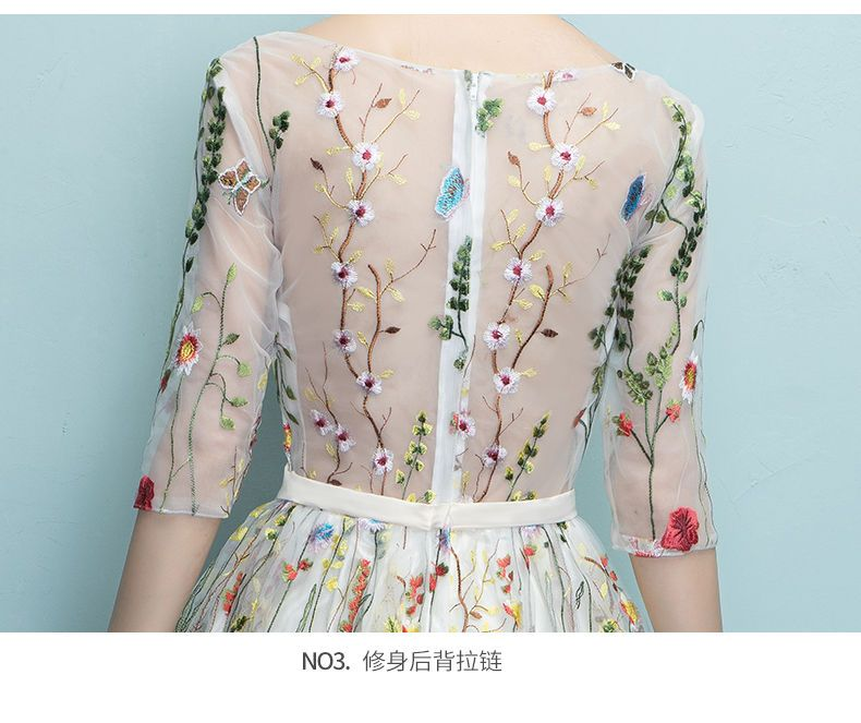 Buy Rosita Floral Embroidery Elbow-Sleeve Cocktail Dress at YesStyle.com!  Quality products at remarkable prices. FREE Worldwide Shipping available! ed7bfc4a1