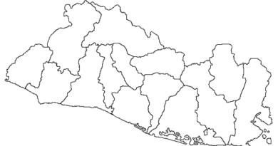 Mapa De El Salvador Con Sus Departamentos El Salvador Mi Pais Mapas El Salvador Mapa Para Colorear
