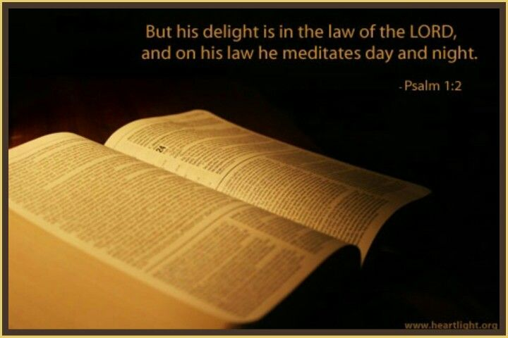 how to meditate on god's word day and night