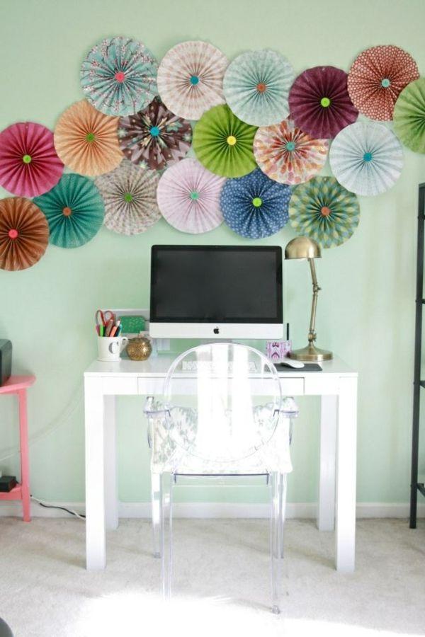 1001 bastelideen aus papier blumen girlanden und t rkr nze sch nes aus papier basteln. Black Bedroom Furniture Sets. Home Design Ideas