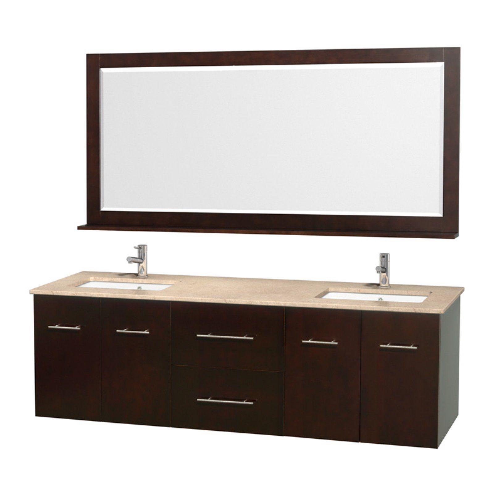 Wyndham Collection Wcvw00972des Centra 72 In Double Bathroom