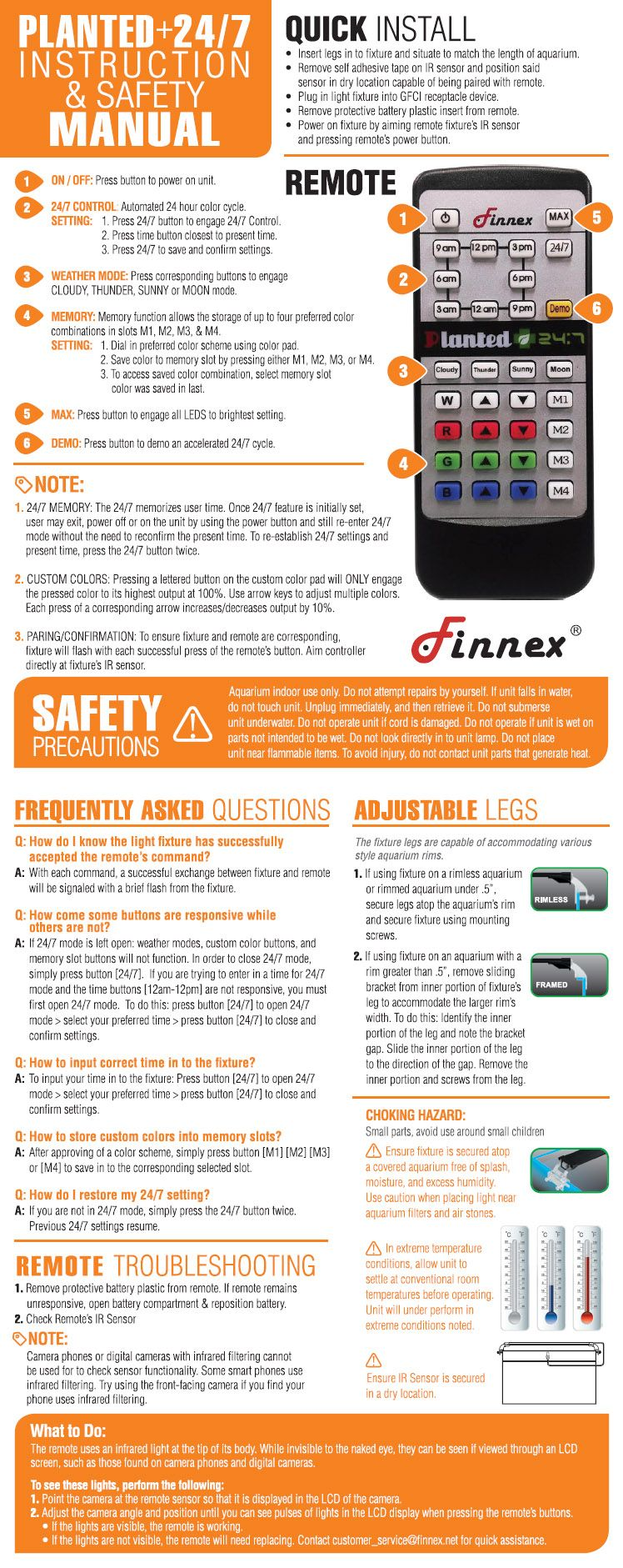 finnex planted 24 7 instruction manual troubleshooting the