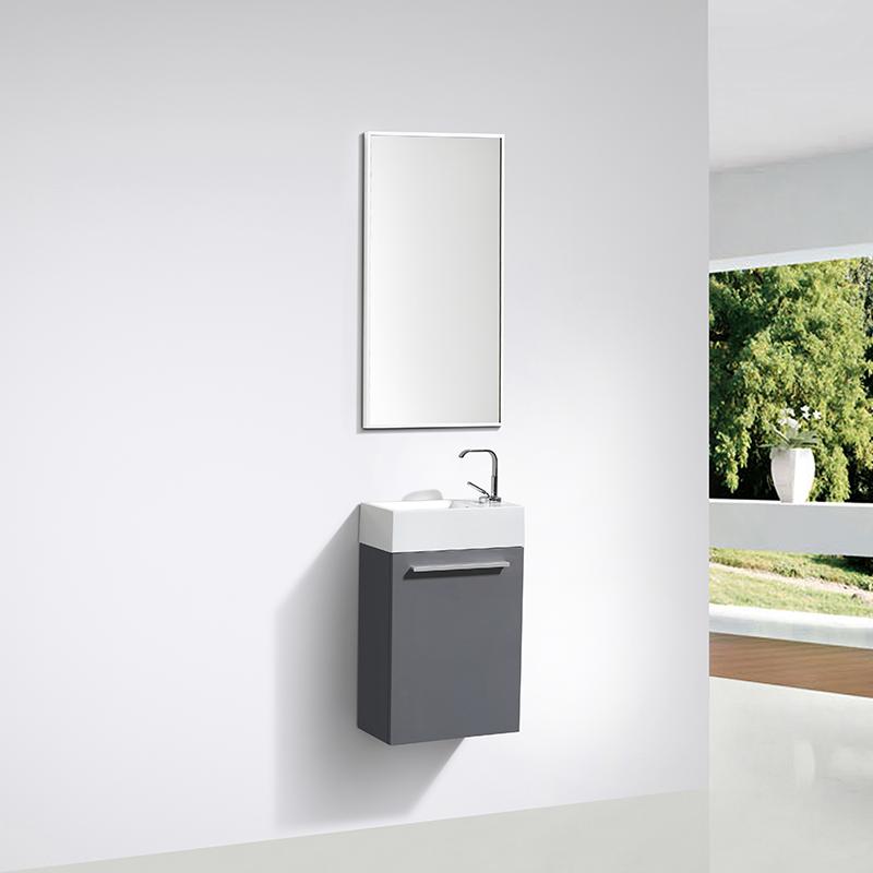 lave main salle de bain design SIENA largeur 40 cm gris laqué