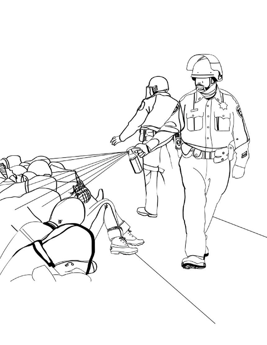 police brutality coloring book a lesson in reality message