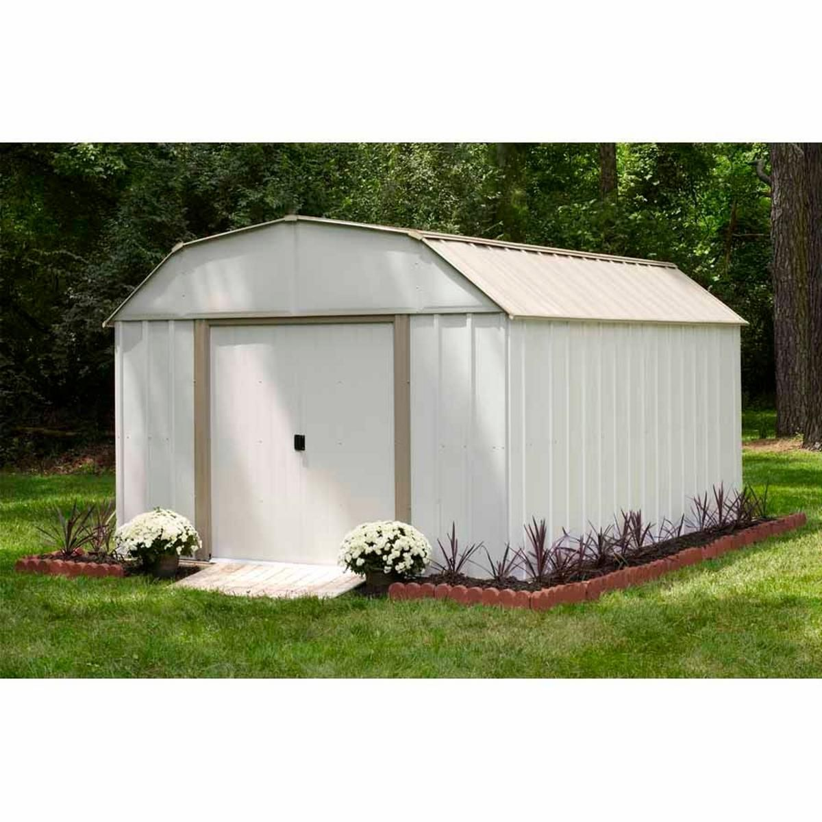 Arrow Sr1012 10 X 12 Barn Roof Storage Shed Metal Storage Sheds Storage Shed Kits Outdoor Storage Sheds