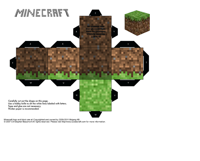 Minecraft Foldable Dirt