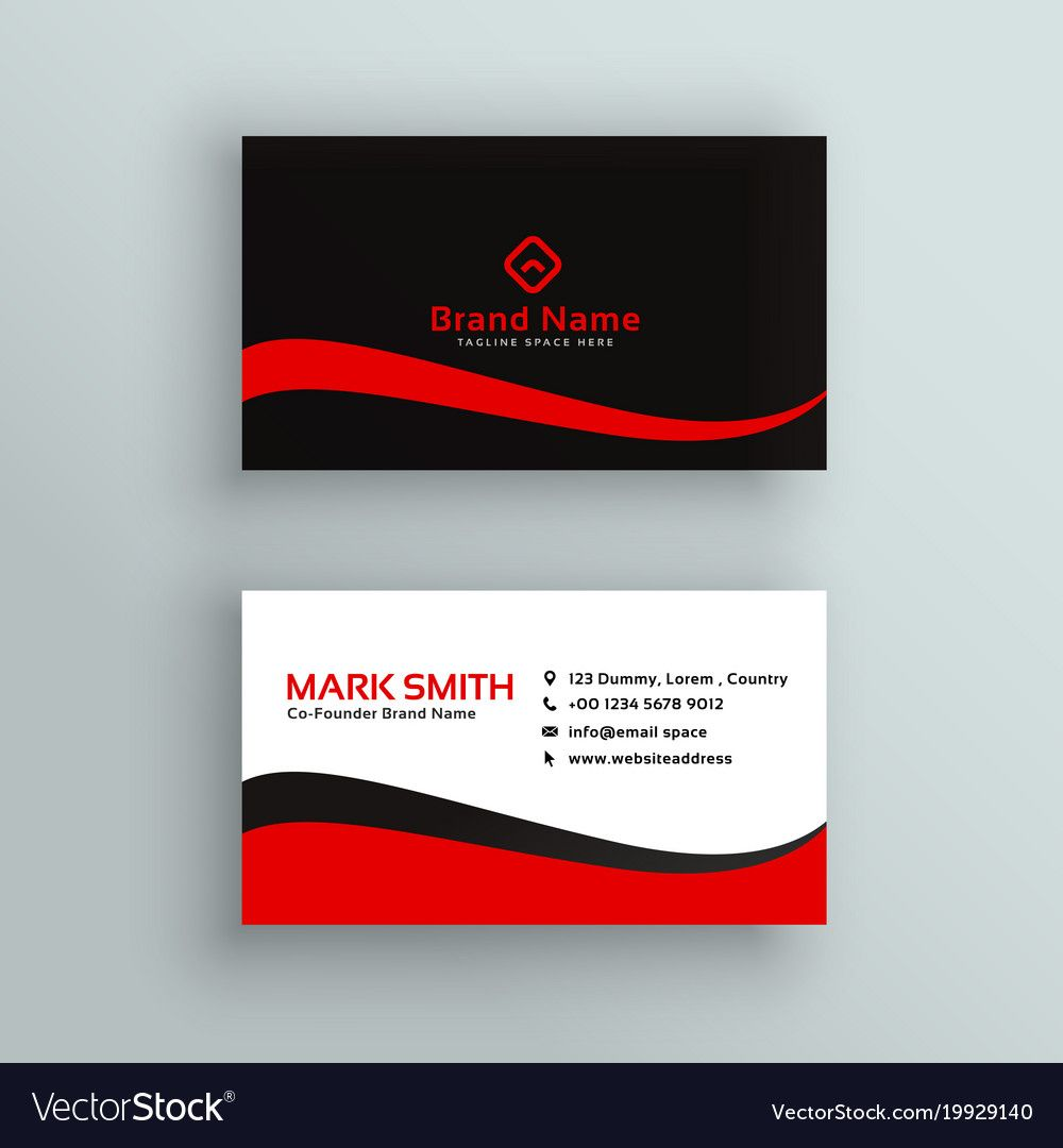 Modern Red And Black Business Card Design Download A Free Preview Or High Quality Ad Business Card Design Black Business Card Design Business Card Inspiration