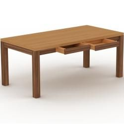 Photo of Solid oak wood table – Elegant solid wood table: with 2 drawer / s & table frame – High quality