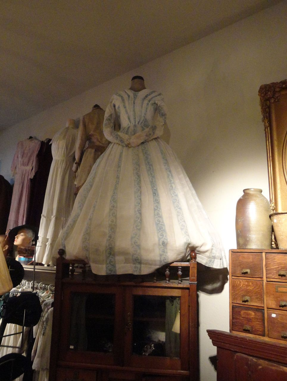 1840's Ladies Cotton Southern Plantation Owners Dress from
