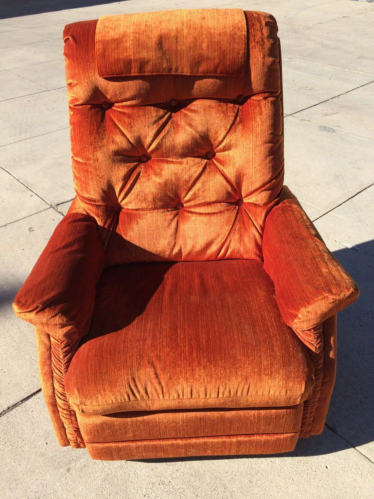 Vintage Lazy Boy La Z Boy Rocker Recliner Burnt Orange Color #LaZBoy