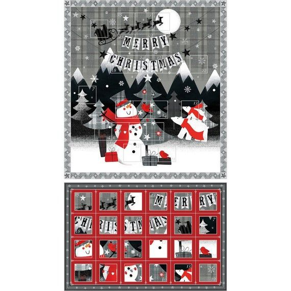 Paintbrush Studio, Advent Calendar Fabric Panel #numerocalendrieraventaimprimer