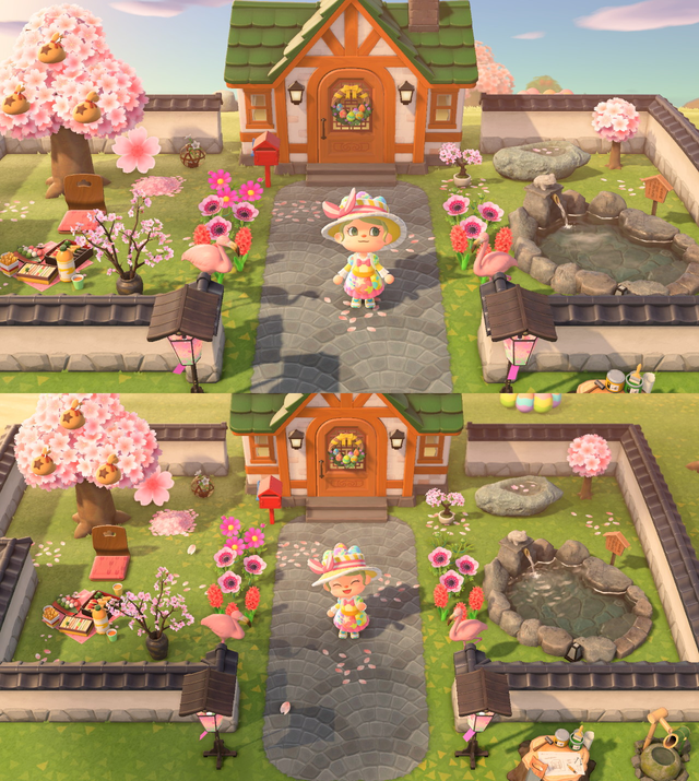 Worked all day on my front yard AnimalCrossing in 2020
