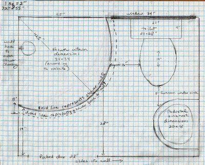 Bathroom Design Graph Paper 4 x 6 bathroom layout | bathroom plans on graph paper | home