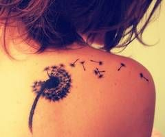 Dandelion Tattoo - if I was brave I would get this in a discrete place!!