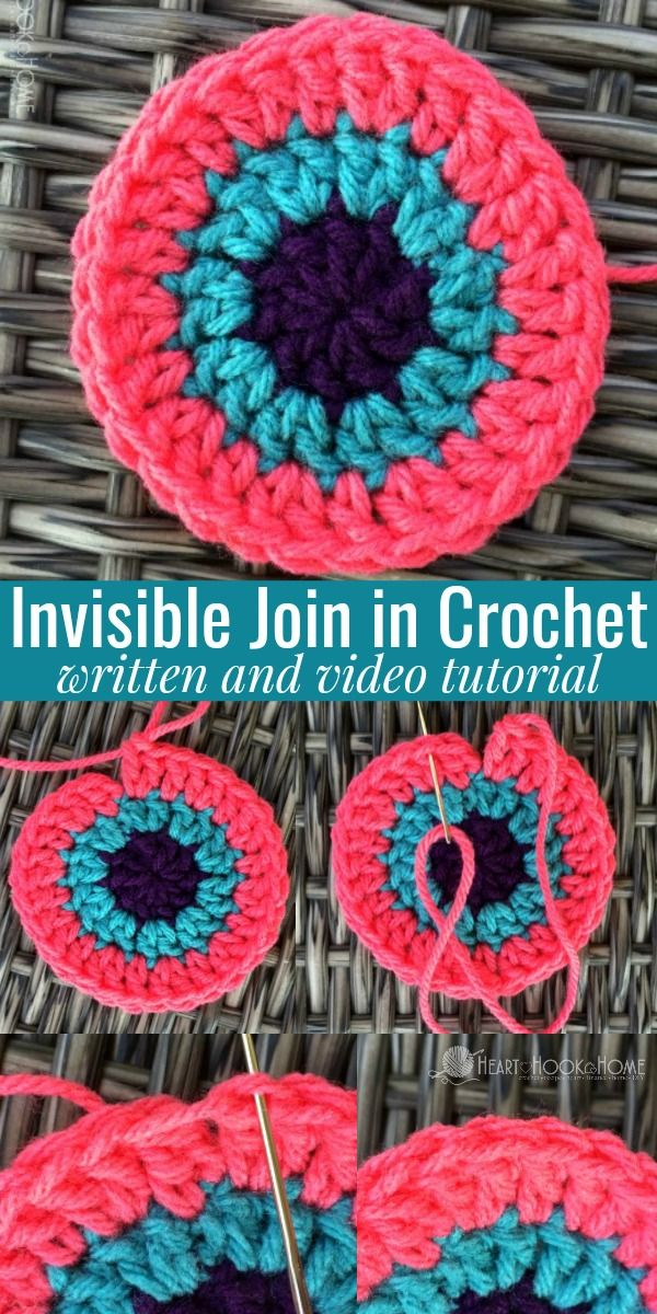 The Invisible Join Technique for Crochet | Dos agujas, Tutoriales y ...