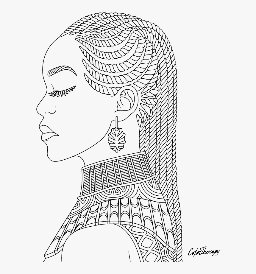 African Queen Coloring Pages Hd Png Download Is Free Transparent Png Image To Explore More Similar Hd Im In 2020 Coloring Pages Princess Coloring Pages African Queen