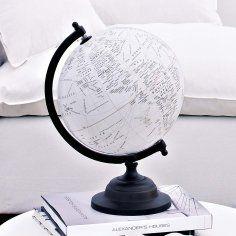 white globe cartes et mappemondes pinterest globe mappemonde et globe terrestre. Black Bedroom Furniture Sets. Home Design Ideas
