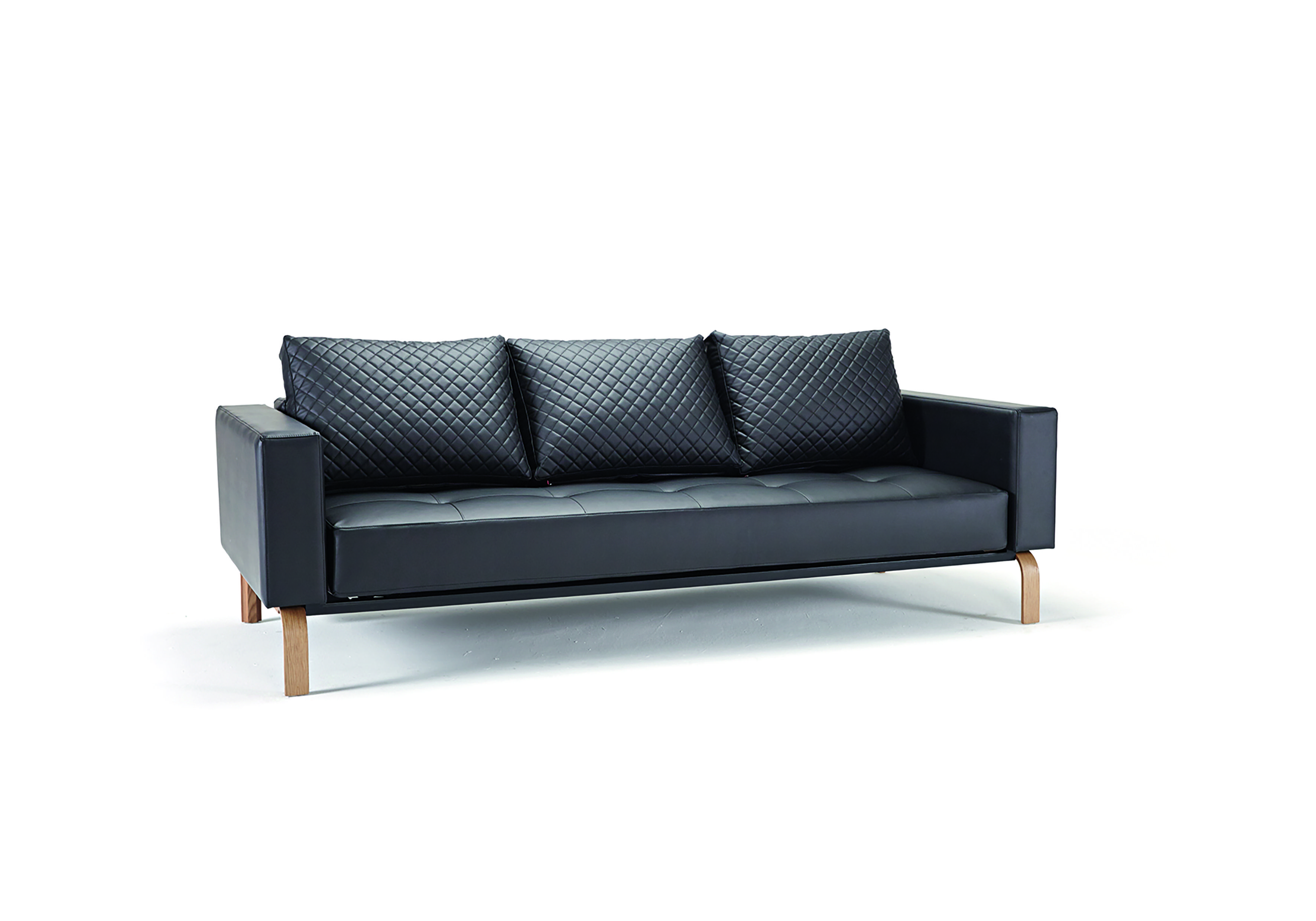 Cassius Quilt Sofa Bed Full Size Black Leather Textile By Innovation Sofa Bed Design Furniture Sofa