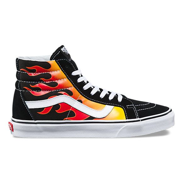 Flame Sk8-Hi Reissue | Shoes, And Stuff | High top vans outfit, High ...