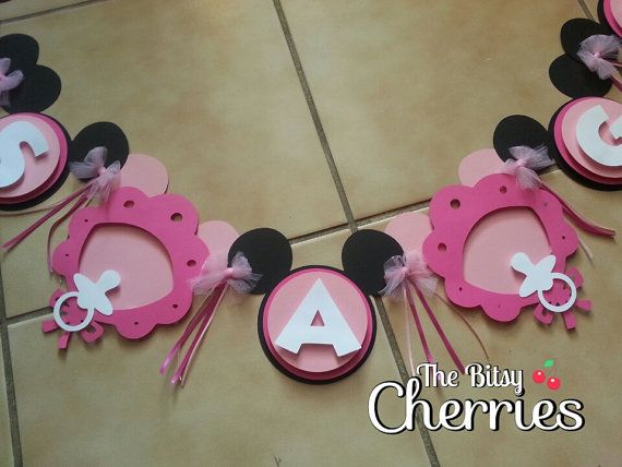 Minnie Mouse Baby Shower Banner Its A Girl Banner Or Can Be