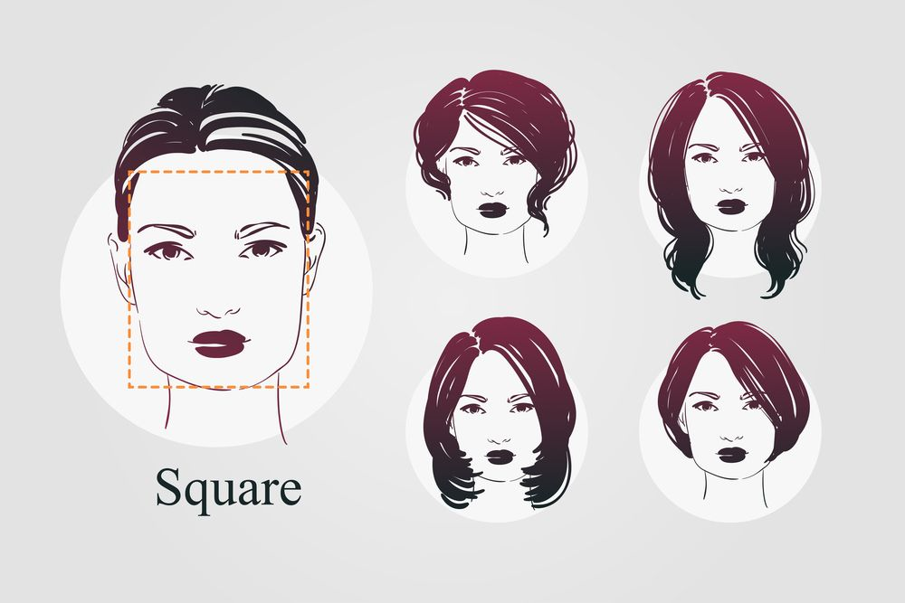 9 Face Shapes For Women And Best Hairstyles For Each Square Face Hairstyles Square Face Short Hair Rectangle Face Shape