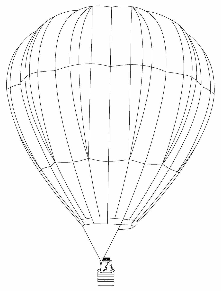 Hot Air Balloons With A Round Shape And Large