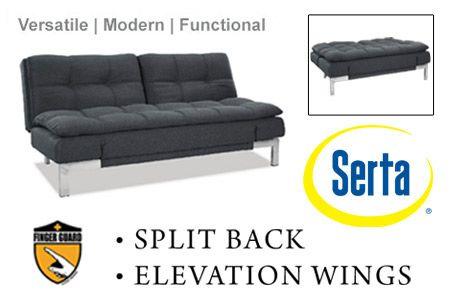 Boca Modern Convertible Sofa Bed Grey