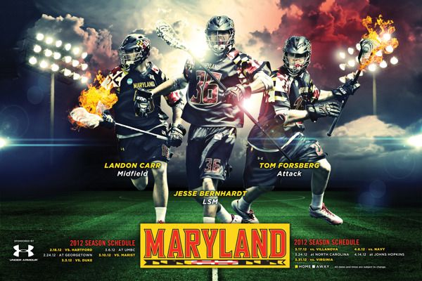Maryland University Lacrosse Poster By 343 Creative Via Behance Lacrosse Maryland University