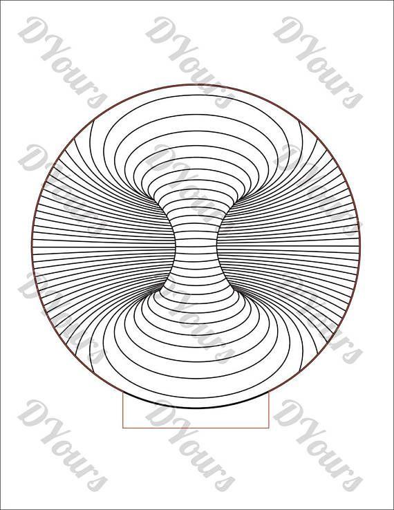 Double Dark Hole Led 3d Lamp Vector Model