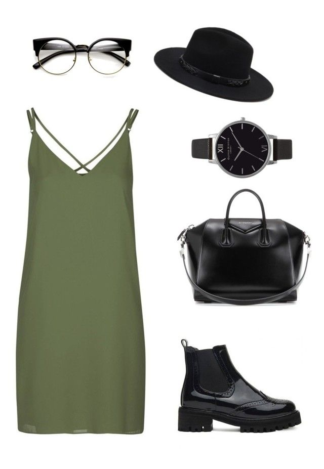 """Nerdy grunge"" by outfits-by-jahan on Polyvore featuring Topshop, Forever 21, Givenchy and Olivia Burton"