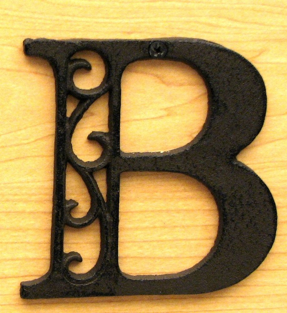 Cast Iron Letter B   Iron