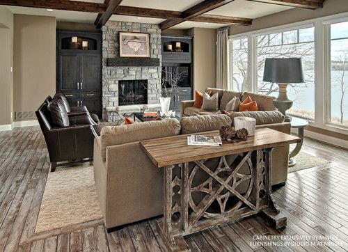 Our Home on the 2012 Parade of Homes contemporary living room- LOVE the flooring!