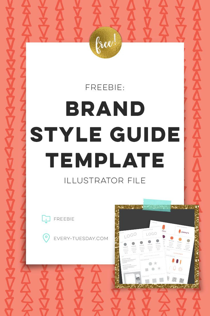 Super Helpful Free Brand Style Guide Template Https Every Tuesday