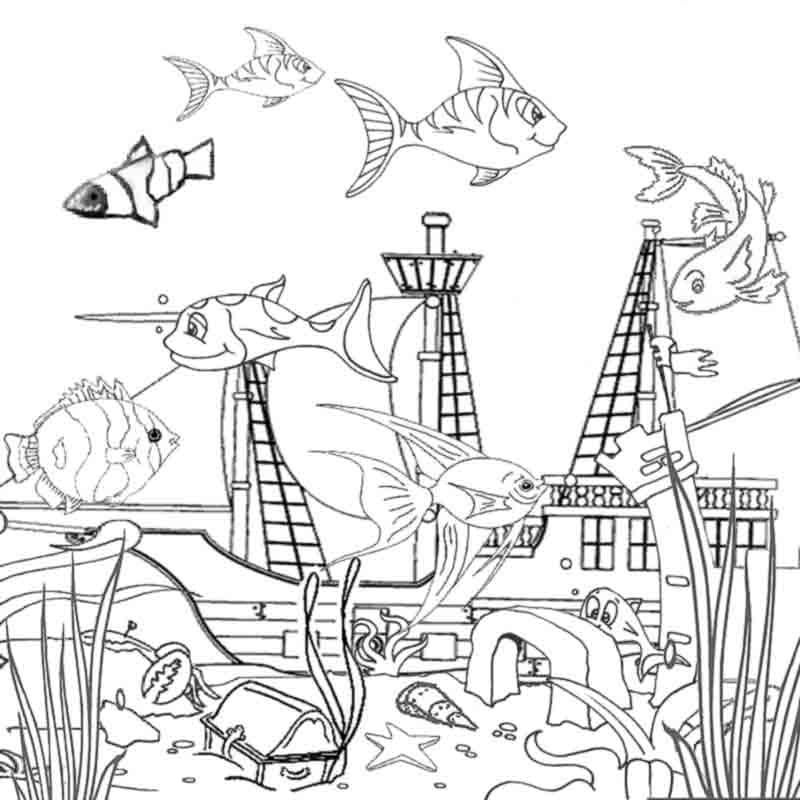 Ocean Coloring Pages Printable coloring pages Pinterest